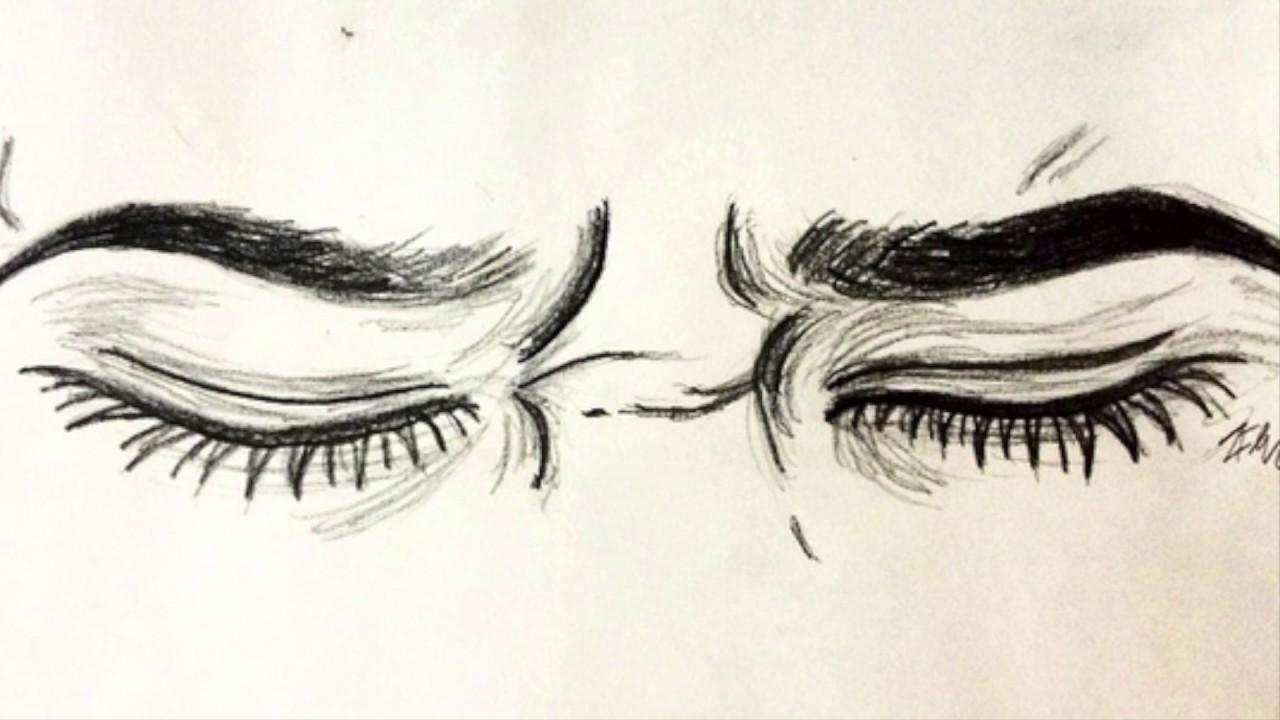 рисунки закрытые глаза со слезами вскоре все изменилось