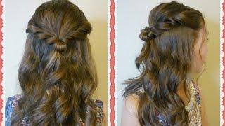 Easy Prom Hair Tutorial - Romantic Twist Half Up Hairstyle