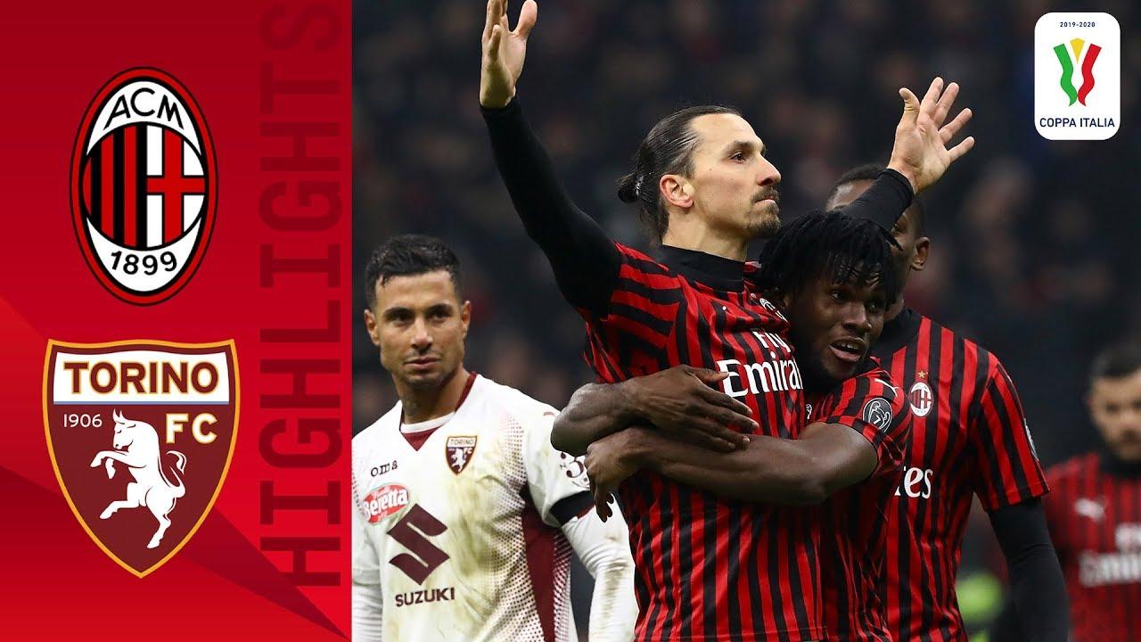 Milan 4 2 Torino Ibra Extra Time Goal Send Milan To Semifinals Quarter Final Coppa Italia Youtube