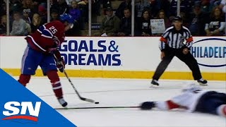 Belzile Finishes Off Poehling's Perfect Toe-drag For Canadiens' Short-handed Goal
