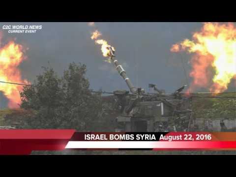 BREAKING NEWS - Israel Bombs Syria 08/22/16