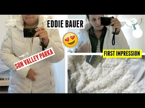 Eddie Bauer Sun Valley Parka Unboxing And Try On