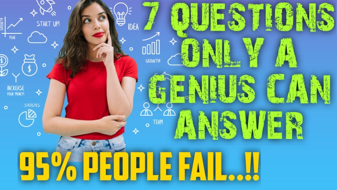 Questions only a genius can answer(IQ test) |Tricky ...