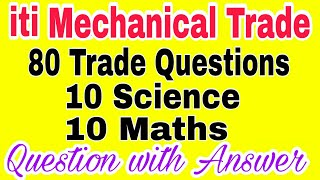 All Mechanical trade Question with answer Fitter Machinist Turner etc