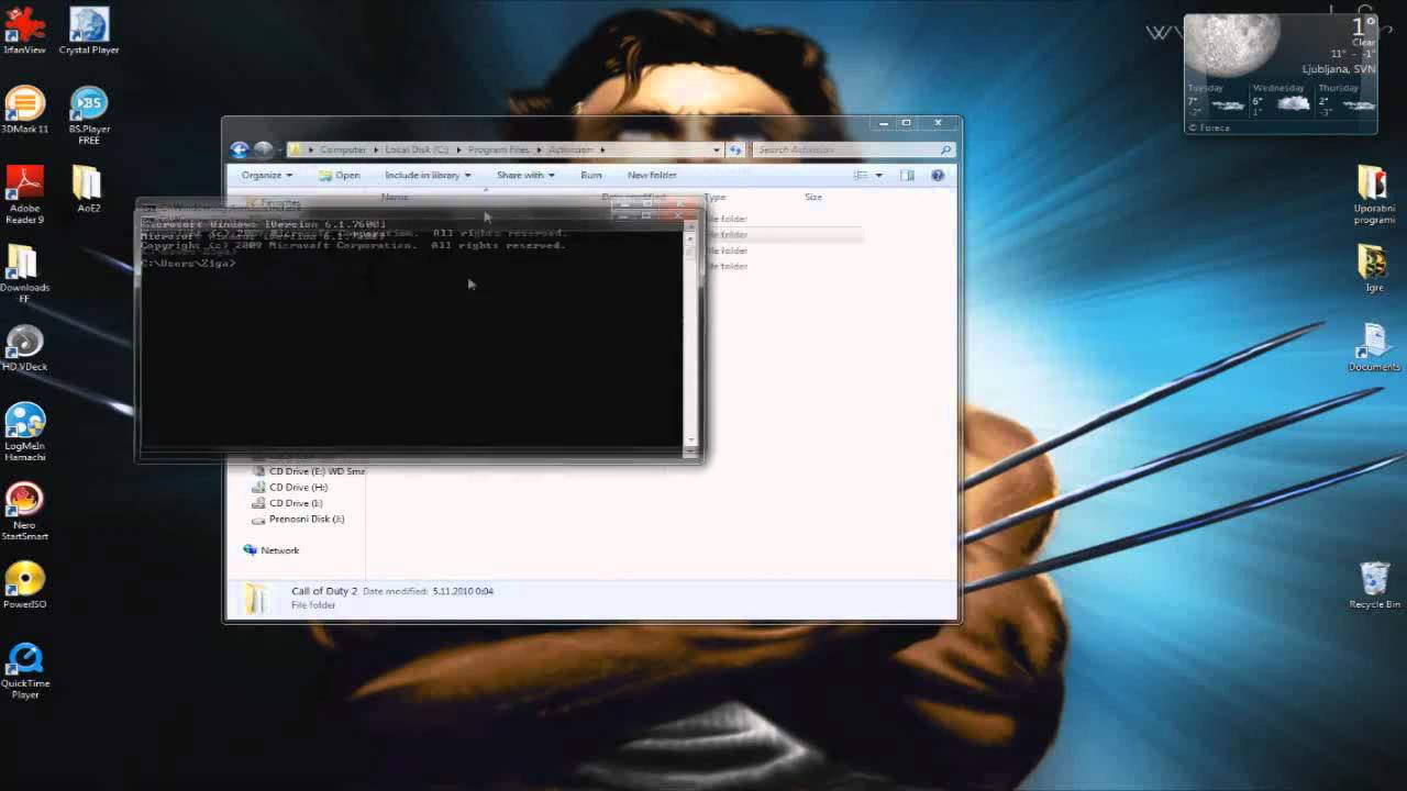 how to change folder command prompt