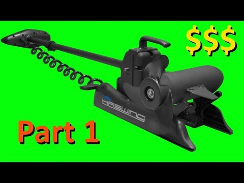 An Unboxing and review of the Cayman Haswing Wireless Trolling Motor, Part  1