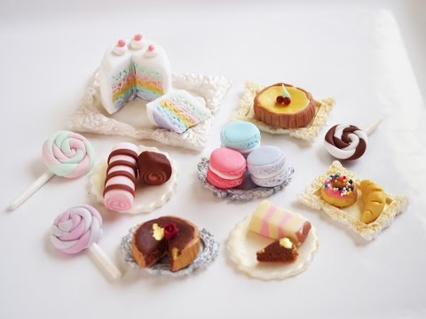 How to make some fondant miniature sweets!