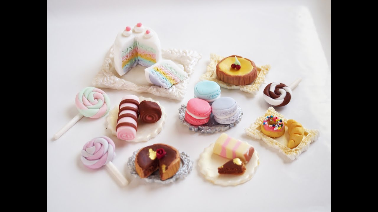 How To Make Some Fondant Miniature Sweets Youtube
