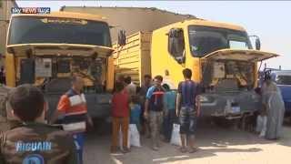مساعدات لأهالي قضاء عراقي بالرمادي
