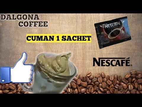 CARA MEMBUAT DALGONA COFFEE TANPA MIXER #dirumahaja - YouTube