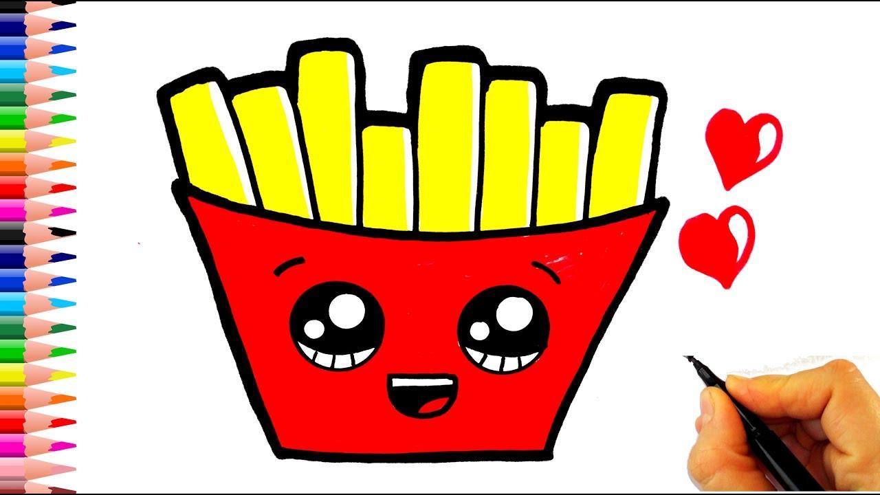Patates Kızartması Nasıl Çizilir? - How To Draw Cartoon Fries