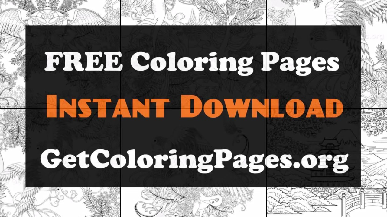 Japanese Cherry Blossom Coloring Pages Youtube