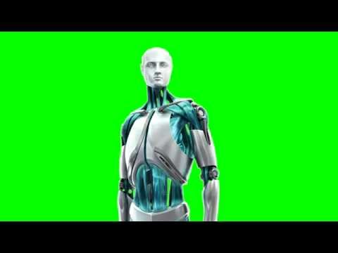 robot man green screen thumbnail