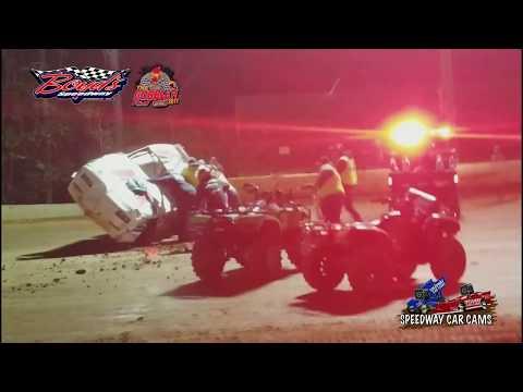 #48 Michael Brooks - Flip - Street Stock - 11-17-17 Boyd's Speedway - In Car Camera