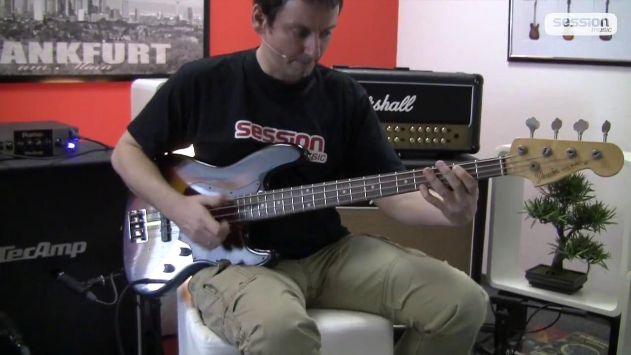 Fender Custom Shop 1960 Duo Tone Jazz Bass Relic RW Faded 3TS