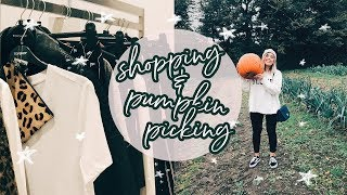 COME SHOPPING WITH ME + PUMPKIN PICKING | Hello October Vlogtober