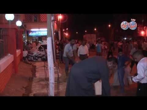 الدكتور أيمن عبد المنعم   يتفقد أعمال التجميل أمام مسجد بمنطقة الخلوة بأخميم
