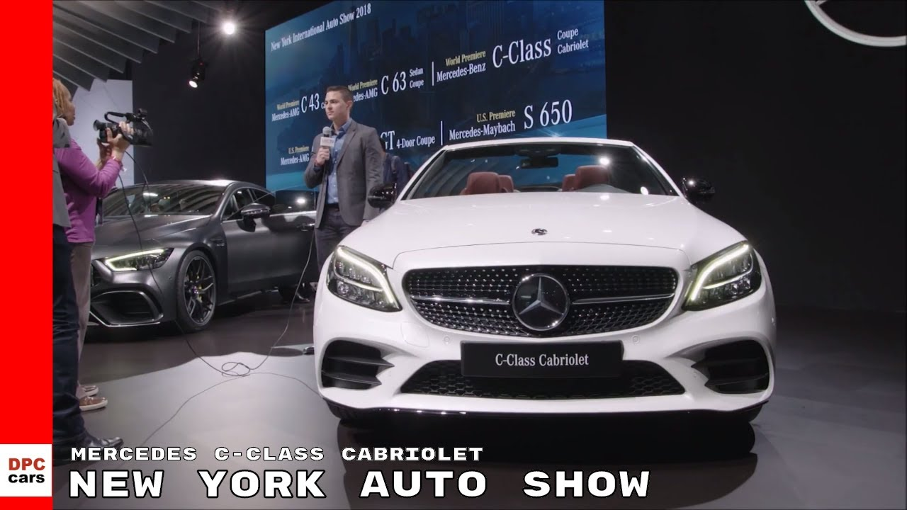 2019 Mercedes C Class Cabriolet At New York Auto Show
