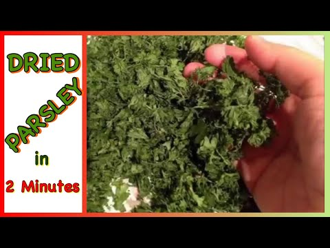 How To Dry Parsley Or Herbs 2 Minutes You