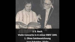 J. S. Bach - Violin Concerto in A minor BWV 1041 - 1. Without tempo indication (1/3)