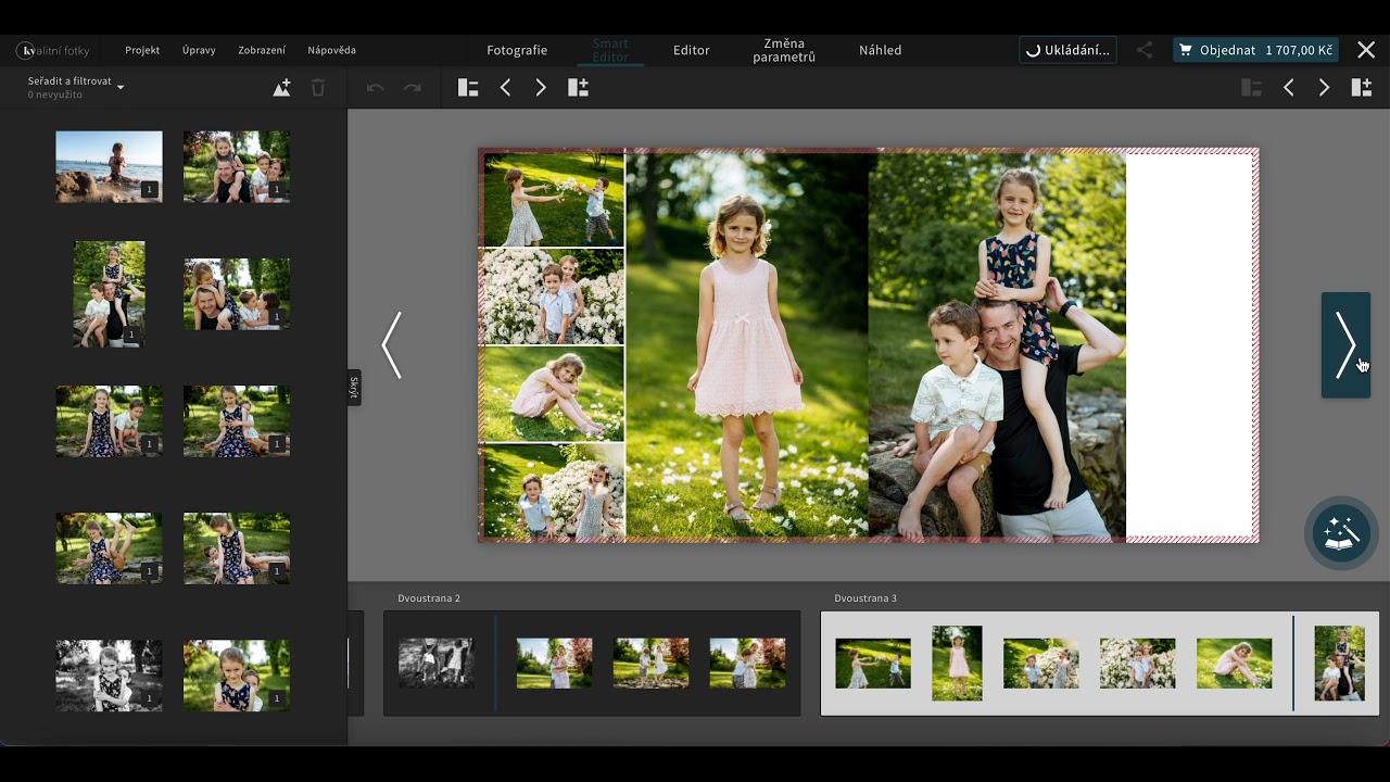 Rychlý návrh fotoknihy pomocí smart editoru