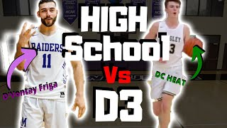 High School Game Day Vlog Vs D3 College Game Day ?!