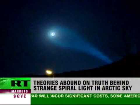 UFO or missile trace? Mystery spiral lights over Norway