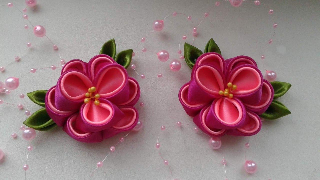 Как своими руками сделать розу канзаши из атласной ленты 94