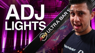 adj ultra bar 10 plus unboxing how to master slave dj lights