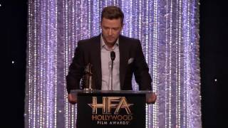 Anna Kendrick Presents the Song Award to Justin Timberlake - Hollywood Film Awards 2016