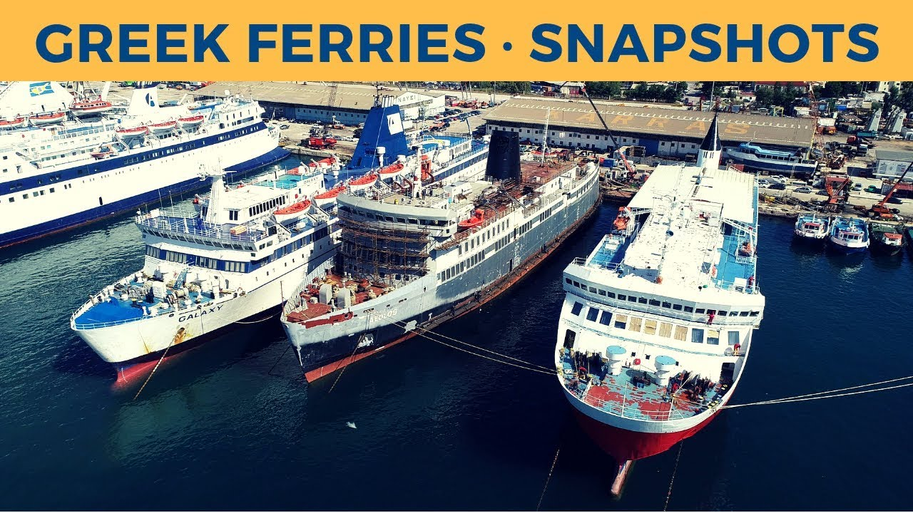 Snapshots of the Greek ferry world (April 2019)