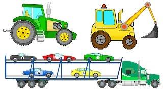 Машинки. Мультики. Все серии подряд. Трактор. Экскаватор. Автовоз(Машинки. Мультики. Все серии подряд. Трактор. Экскаватор. Автовоз. Смотрите больше мультфильмов на канале..., 2016-04-06T09:19:54.000Z)