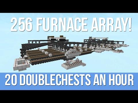 Minecraft Auto Smelter - 256 Furnace System!