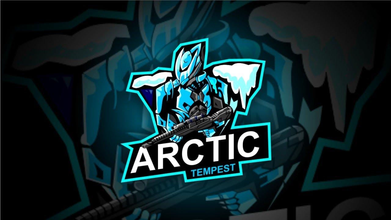Belajar Desain Logo Esport Arctic Tempest | Speed Desain | [ Corel Draw ]