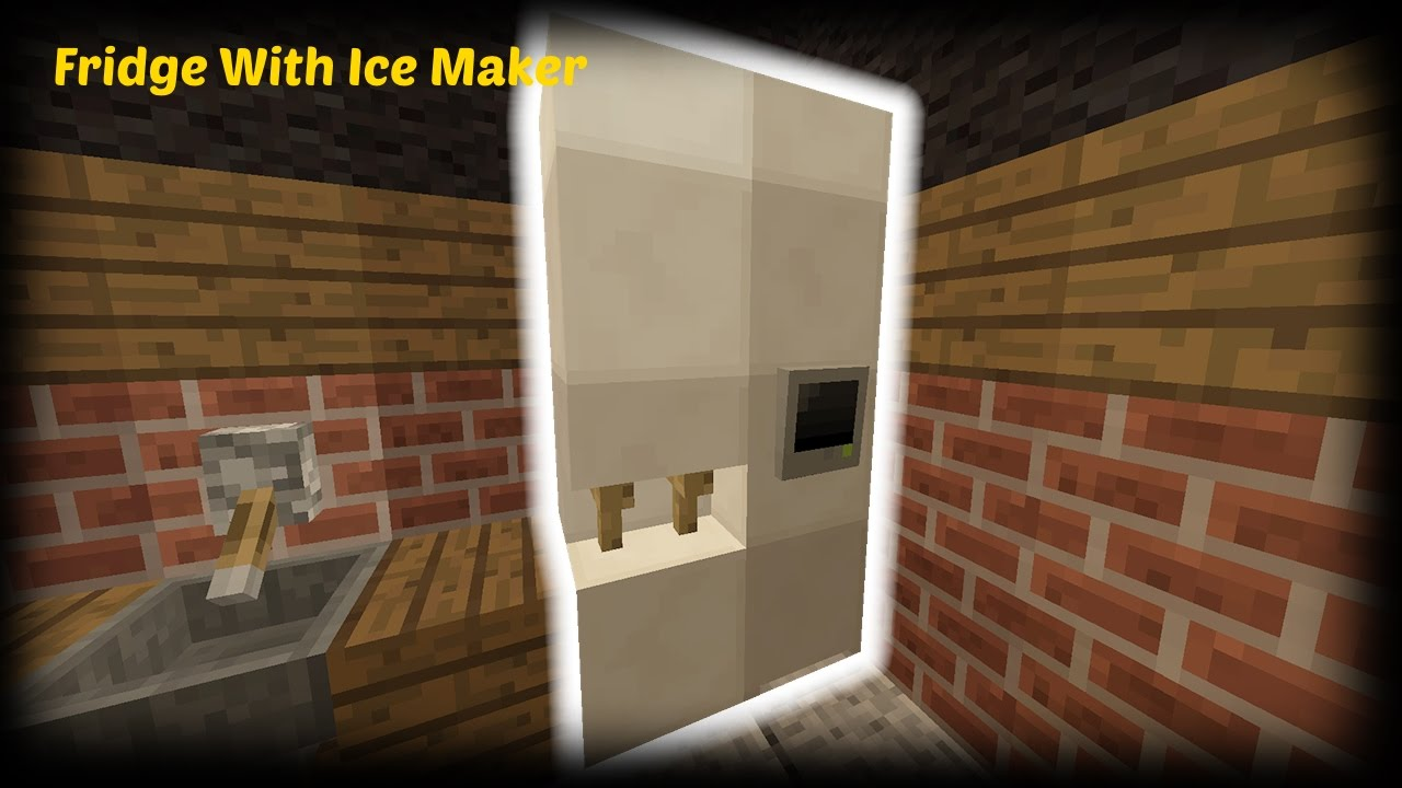How To Craft A Fridge In Minecraft