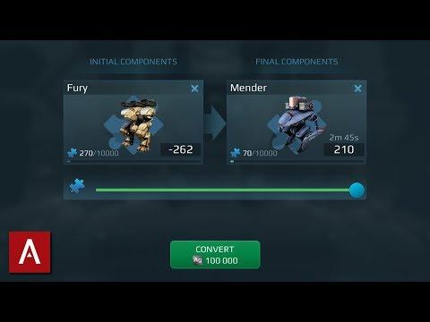 NEW Workshop 2.0 Component Conversion Feature Explained / War Robots Test Server