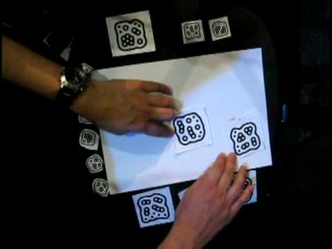 Music with Paper.  Reactivision Improvisation with MIDI (Reactable)