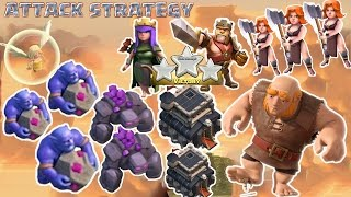 Coc Th9 attack strategy New Combo 2016, 2017. Town Hall 9 3 Star Clash of Clans