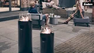 Grey//Black Enders Nova LED Gas Fire Pit