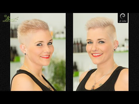 Extreme short pixie summer haircut