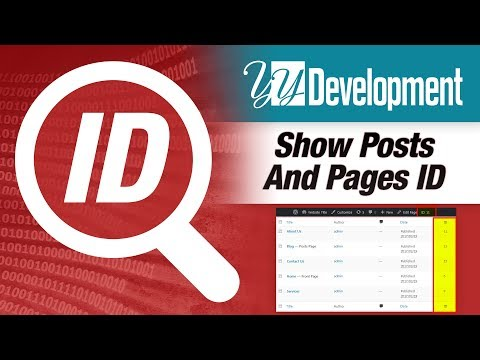 Show Pages & Posts IDs Wordpress Plugin