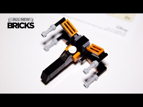 Lego Star Wars Mini Poe's X-Wing Fighter Toys R Us Speed Build