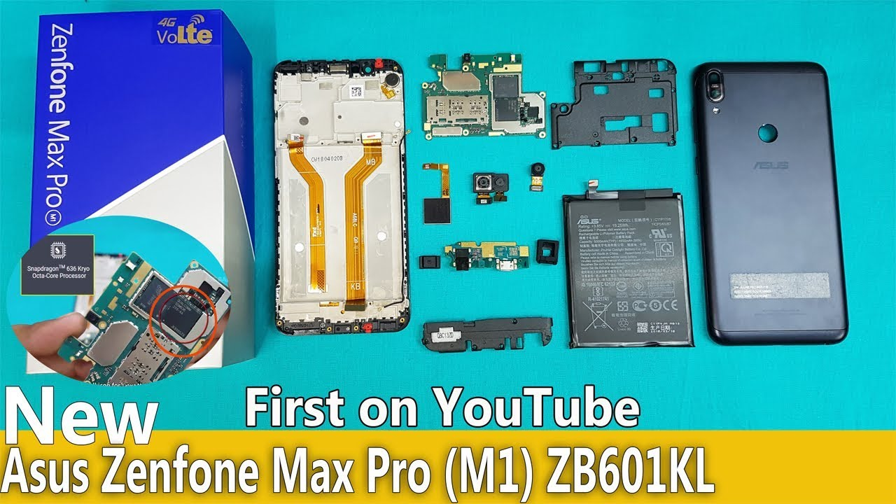 Asus Zenfone Max Pro M1 Full Disassembly || Asus Max Pro ...