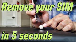 How to Remove a Stuck SIM Card/SIM Tray in 5 Seconds [for iPhone, Android, and Others]