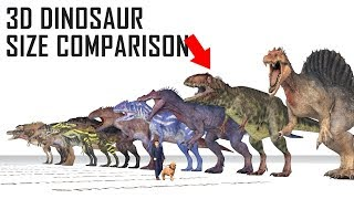 Dinosaur Size & Weight Comparison [Theropods]