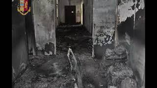 Devastazioni, incendi e danneggiamenti al centro di Permanenza per i rimpatri di Bari