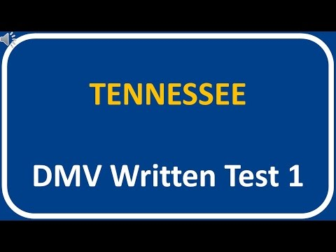 Tennessee DMV Written Test 1