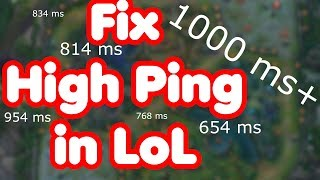 High Ping LoL | Fix High Ping in League of Legends | 2019