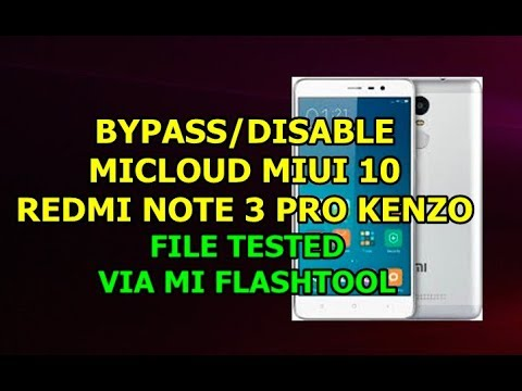 FREE....CARA BYPASS MICLOUD REDMI NOTE 3 PRO KENZO SUPER BANDEL
