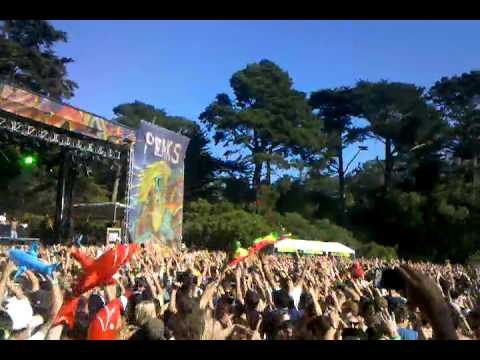 Major Lazer - Pon de Floor / Barbra Streisand (Outside Lands 2011)